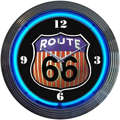 Neonetics Route 66 Neon Clock