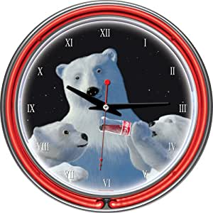 Amazoncom CocaCola Polar Bear with Cubs Chrome Double Ring