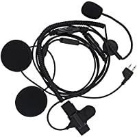 KENMAX Half Face Professional Motorcycle Helmet Headset Microphone Earpiece with Finger PTT for Midland LXT435 G225 LXT320 LXT320 LXT324
