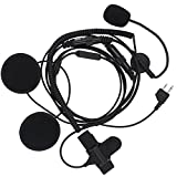 KENMAX Half Face Headset Microphone Earpiece with Finger PTT for Midland LXT435 G225 LXT320 LXT320 LXT324