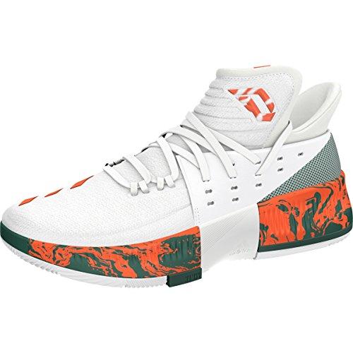 D Lillard Shoe energy White collegiate adidas March Orange Basketball Green Madness Men's 3 Bdqyw54