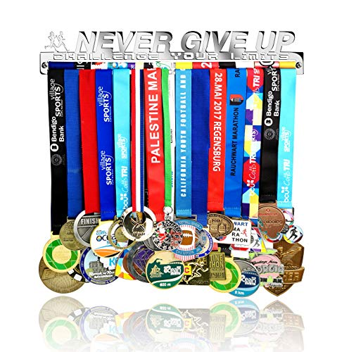 Medal Hanger Holder Display Rack for 30 Medals Application for All Sports Stainless Steel Medal Hanger Holder, Race Medal Display Holder,Hanger for Medals,Bonus1PC Clean Medals Fabric Included