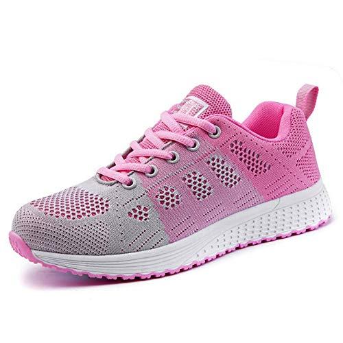 GUNAINDMX Dama Adolescentes Mujeres Zapatos Casuales de Moda Femenina Zapatos de Malla de Malla Transpirable s7