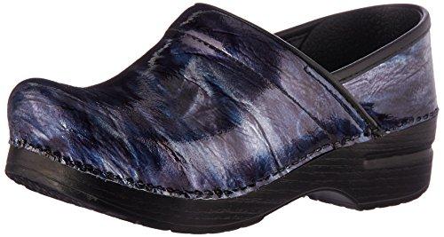 Dansko Women's Professional Clog, Navy Crinkle Patent, 38 M EU (7.5-8 (Crinkle Patent Footwear)