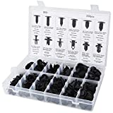 240 Pcs Push Retainer Kit- Yookat Assortment of Push Type Retainers Fasteners Rivets Clips Fits for GM Ford Toyota Honda Chrysler with Plastic Storage Case Automotive Replacement Tools