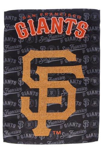 Team Sports America Suede San Francisco Giants Glitter Logo Garden Flag, 12.5 x 18 inches