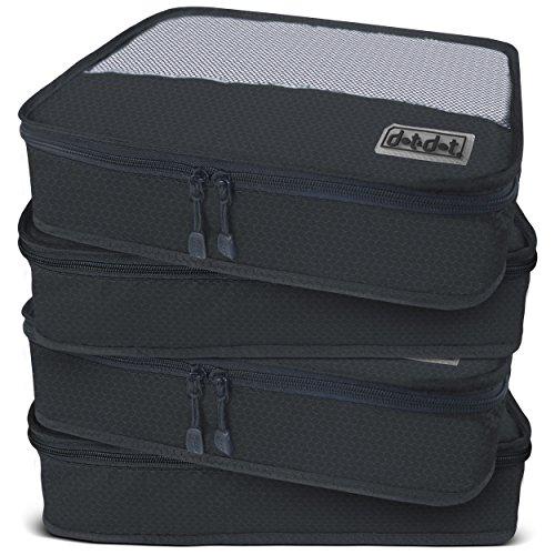 (Dot&Dot Medium Packing Cubes - Black, 4-Piece Set )
