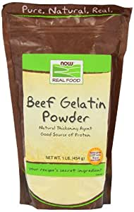 Now Foods Beef Gelatin Natural Powder 1 lb