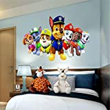 "Paw patrol Window View Decal WALL STICKER Home Decor Art Mural 18"", 24"", 36"" or 52"" 7"