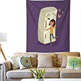 Anyangeight Horizontal Tapestry Woman Hugging Refrigerator 60W x...