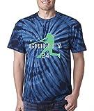 """Silo Shirts TIE DIE NAVY Ken Griffey Jr. Seattle """"HOME RUN"""" T-Shirt"""