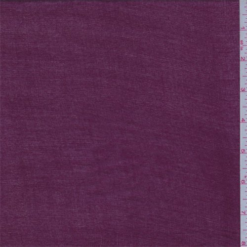 Berry Red Rayon Tissue Crepe, Fabric by The ()