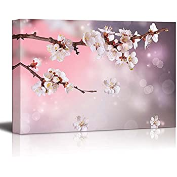 Canvas Prints Wall Art - Artistic Photograph of Sakura/Cherry Blossom in Spring | Modern Wall Decor/Home Decor Stretched Gallery Canvas Wrap Giclee Print & Ready to Hang - 16