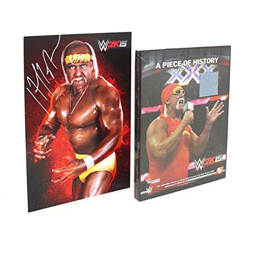 WWE 2K15 Hulk Hogan Autographed Art Card and Ring Canvas Plaque set [NO GAME] (Autographed Set)