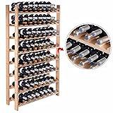New 120 Bottle Wood Wine Rack 8 Tier Storage Display Shelves Kitchen Natural