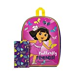"Dora the Explorer 15"" Backpack Butterfly Friends with Pencil Case"