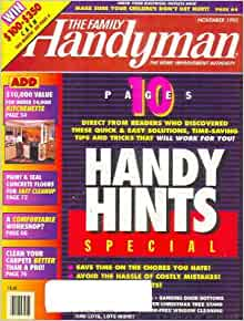 The family handyman magazine november 1995 10 pages of for Family handyman phone number
