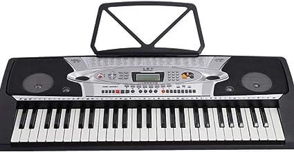 DZQ Teclado De Piano para Niños Adultos, 54 Teclas, Pantalla ...