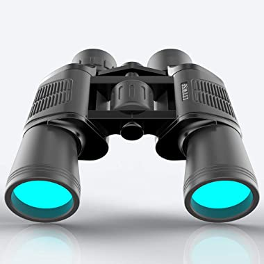 Binoculars for Adults LTTWSF 12x50 HD with Low Light Night Vision for Bird Watching Hunting Sports Events Travelling Adventure and Concerts (Black)
