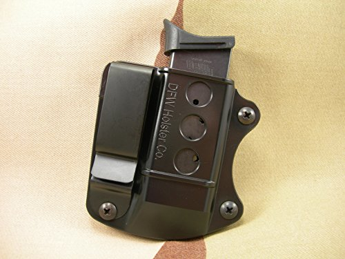 Single Stack Tuckable IWB Mag Pouch. Fits 9mm, 40 Cal, 45 ACP. (Ruger LC9) (Five Dollar Magazines)