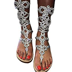 Dress Sandals With Rhinestones