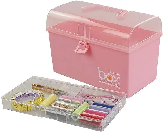 Rinboat Caja Botiquín Medicamentos de Plástico para Primeros Auxilios, Color Rosa, 1 Unidad: Amazon.es: Bricolaje y herramientas