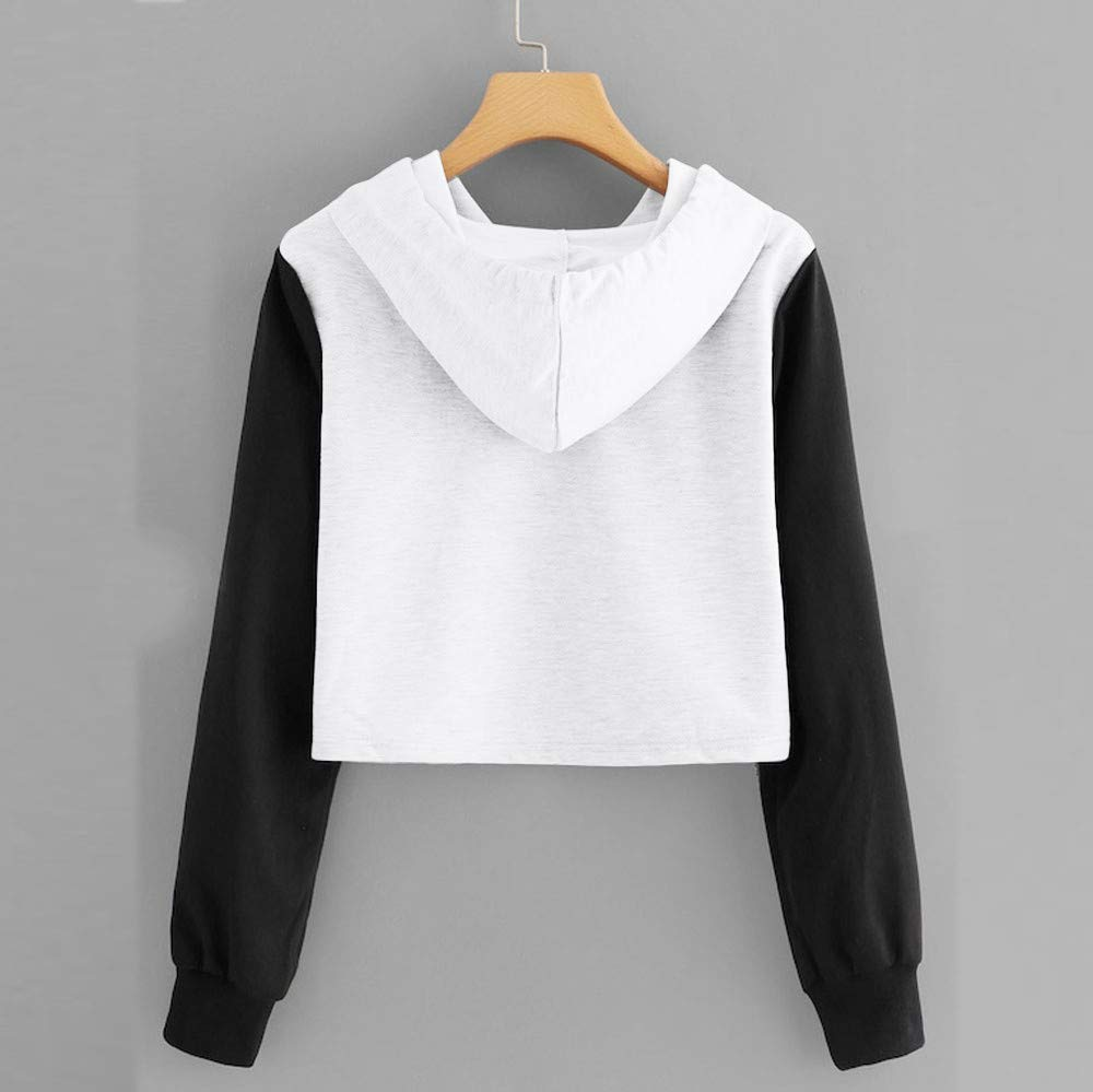 Simayixx Women Hooded Crop Tops Plus Fashion Women Cute Cat Panda Printed Hoodie Sweatshirts Pullover Jumper by Simayixx Hoodie (Image #3)