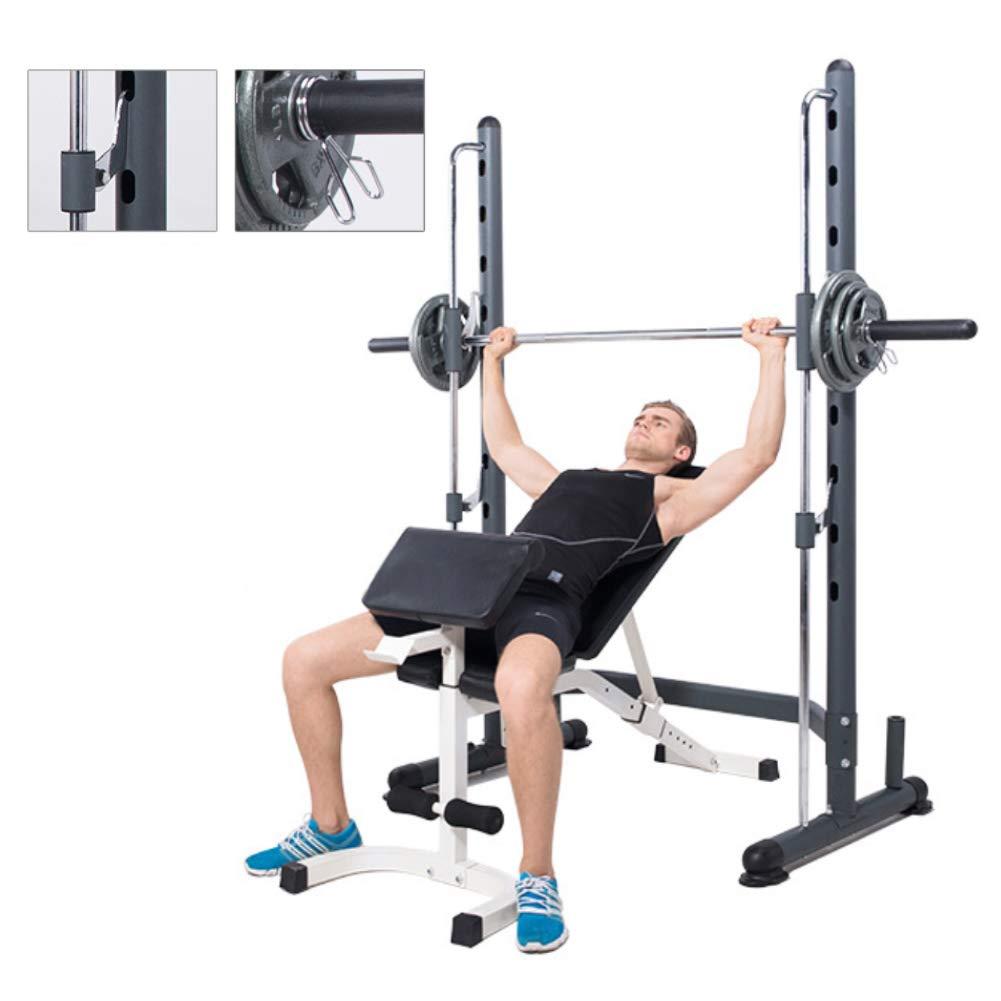 Squat Rack Smith Machine Squat Rack Multi-Function Weight Bench Combination Adjustable 300kg Maximum Load