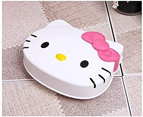 Amazon Com Sanrio Hello Kitty Soap Dish Case Shower Bathroom Kitty With Pink Bow Home Kitchen