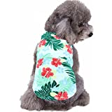 Mihachi Dog Shirt - Hawaiian T Shirts,Back Length 13.5'',Cotton Summer Clothes Vest,Apparel Costumes for Pets