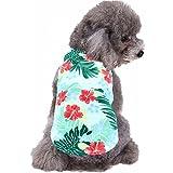 Mihachi Dog Shirt - Hawaiian T Shirts,Back Length 13.5'',Cotton Summer Clothes Vest,Apparel Costumes for Pets