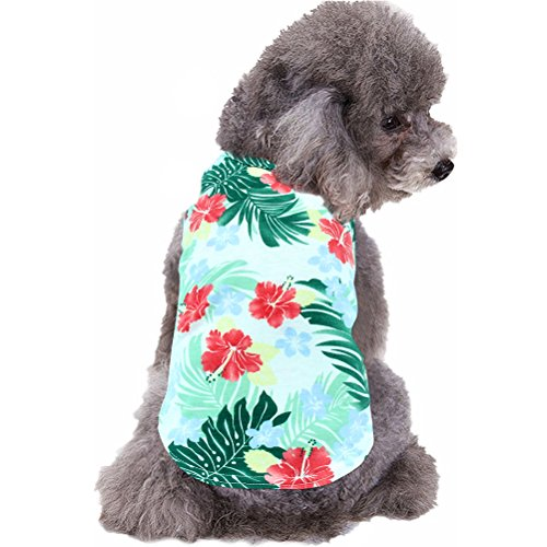 "Mihachi Dog Shirt - Hawaiian T Shirts,Back Length 13.5"",Cotton Summer Clothes Vest,Apparel Costumes for Pets"
