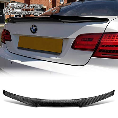 - Rolling Gears Carbon Fiber Trunk Spoiler Fits BMW 3er E92 Coupe/ E92 M3, 2006-2013, V Style