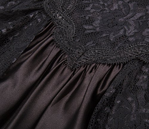 Steampunk schwarz Lang Gothic Bp378 Kleid Corsagenkleid 1 Kleid Poque Damen Belle Schwarz IHqwapx