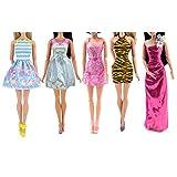 OurKosmos® 5pcs Art und Weise Minikleid für Puppe Handgefertigte kurze Party Kleider Kleidung
