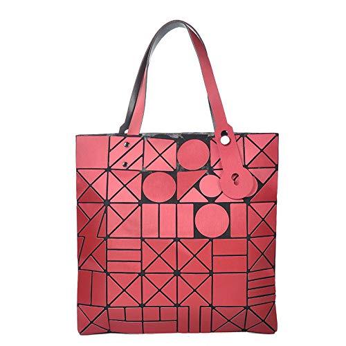 Lingge Geometrico Casuale Signore Borsa Daypack Borse Moda Opaco Red A Tracolla SnfEZx0