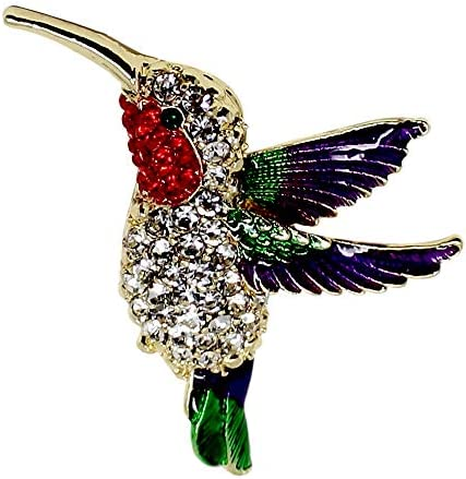 Hummingbird Cameo Hummingbird Jewelry Ivory Purple Hummingbird Necklace Cream Audubon Brooch Combo Ornithology Pin Amethyst Orchid