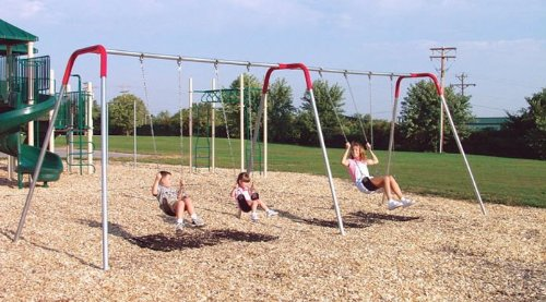 Modern bipod swing set seating 8 seats hd hangers not for Swing set supports