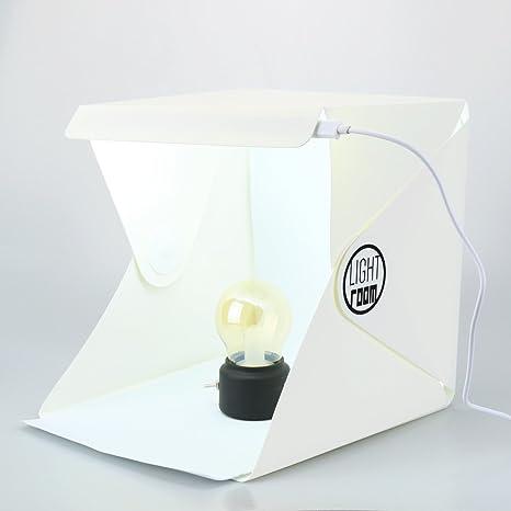 Hellofishly - Mini Caja de Estudio fotográfico, luz LED, para ...