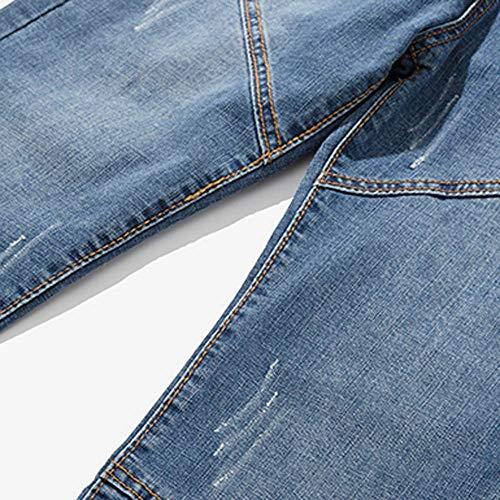 Hop Hip Vintage Pantalons Skinny Bleu Sarouel Denim Classic Baggy Simple Loisir Biker Homme Travail Slim Trousers Moulant Jeans Oq47q