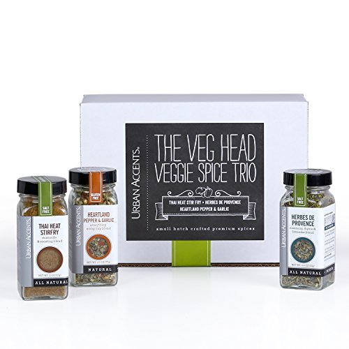 Urban Accents VEG HEAD Gourmet Spice Collection and Gift Set, Perfect for Weddings, Housewarmings or Any Occasion