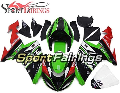 Elf Gloss Green Black Red Sportbikefairings Motorcycle Complete Fairings For ZX10R 2006 2007 ZX-10R 06 07 ABS Plastic Injection Cowlings ZX-10R 2007 Fairing Kit