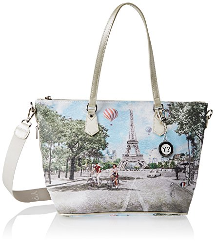 YNOT J-396, Borsa a Tracolla Donna, 15x30x40 cm (W x H x L) Multicolore (Multicolore Champs Elysees)