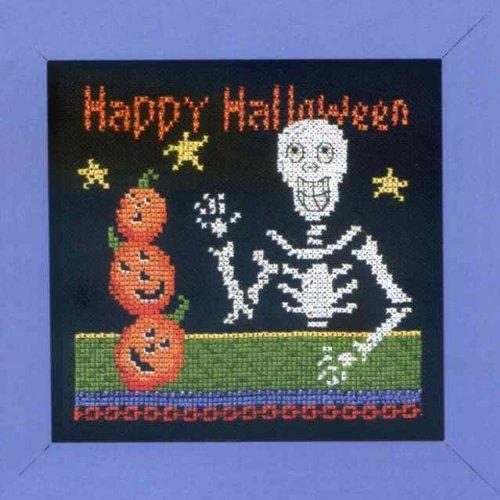 Happy Skeleton - Beaded Cross Stitch Kit by Debbie Mumm DM303101 ()