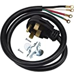 General Electric WX9X35 4-wire Range Cord, 4-foot