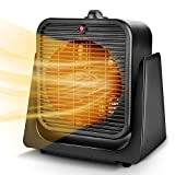 Trustech 2 in 1 Portable Space Heater, Tip Over & Overheat Protection, Heating & Cooling Mode 750W/1500W Personal Small Fan Office Home, Black