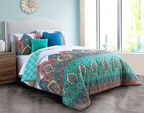 (Avondale Manor Livia 5-Piece Comforter Set Queen, Jade Green )