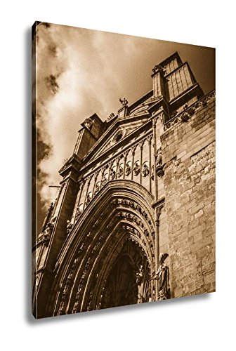 Ashley Canvas Toledo Famous City In Spain, Wall Art Home Decor, Ready to Hang, Sepia, 20x16, AG6114664 by Ashley Canvas