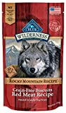 BLUE Wilderness Rocky Mountain Recipe Grain-Free Red Meat Biscuits Dog Treats, 8 oz (6 Pack)