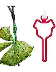 Panykoo Dog Poop Bag Holder,Hands Free Waste Bag Carrier Poop Bag Holder for Leash,Adjustable Waste Bag Holder Fit Any Leash